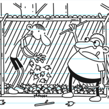 Greg instructs his cabinnates to build a waterproof lean-to shelter.png
