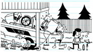 The Heffley Family helping out to take a boat out of the deck