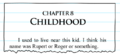 Chapter 8 Childhood