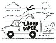 Rodrick drives his van while air drying his clothes
