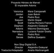 Créditos doblaje Proyecto Héroes de Marvel (ep. 3)