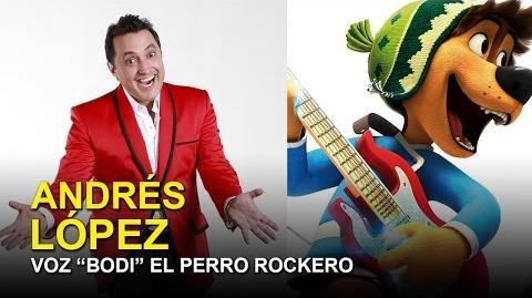 """Entrevista Andrés López Voz de """"Bodi"""" El perro Rockero"""