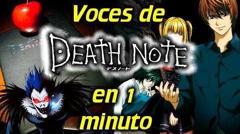 Voces de Death Note en 1 minuto- -13
