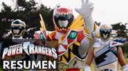 Power Rangers en Español Dino Super Charge Resumen