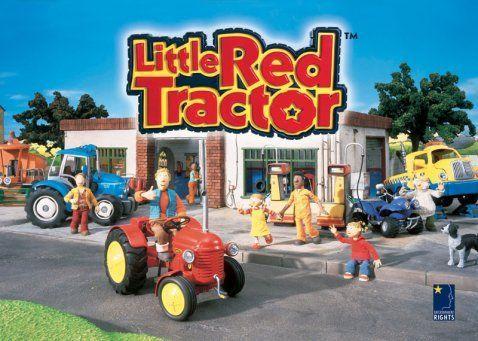 El pequeño tractor rojo