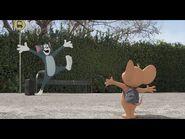 """""""Tom y Jerry"""". Una película tan grande como sus nombres. Oficial Warner Bros"""
