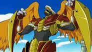 BurningGreymon aparece y derrota a Golemon - Latino