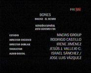 Créditos de doblaje de Bones T09E02 (TV) (Fox Life) (1)