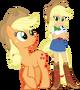 Applejack and applejack by hampshireukbrony-d6mtmym
