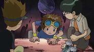 Takato le dice a kenta y a Hirokazu que sera un Digimon Tamer