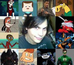Ángel y algunos de sus personajes.jpg