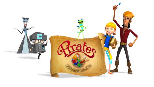 Los piratas y sus aventuras coloridas