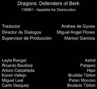Doblaje Latino de Dragones Defensores de Berk (Capitulo 8)