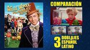 Willy Wonka y la Fábrica de Chocolate -1971- Doblaje Original y 2 Redoblajes - Latino - Comparación