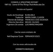 Créditos doblaje Cosmos Una odisea espacio-tiempo (ep. 2)
