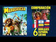 Madagascar -2005- Comparación de 6 Doblajes Latinoamericanos con Modismos - Español Latino