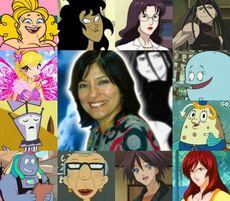 Ivette y algunos de sus personajes.jpg