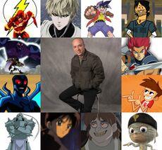 Jhonny y algunos de sus personajes.jpg