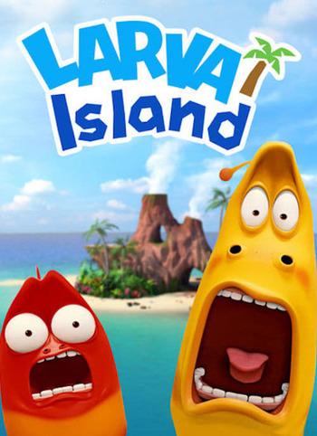 Larva en la Isla