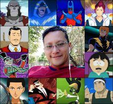Ledner y algunos de sus personajes.jpg
