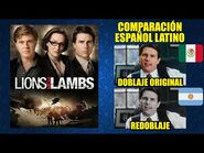 Leones por Corderos -2007- Comparación del Doblaje Latino Original y Redoblaje - Español Latino