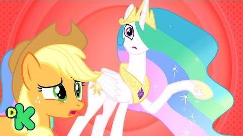 ¡La princesa Celestia es un desastre en la obra! My little pony Discovery Kids