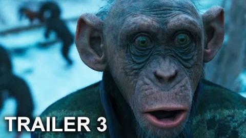 El planeta de los simios La guerra trailer 3 español latino