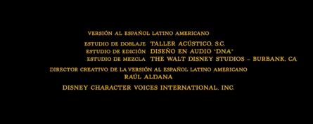 El libro de la selva (2016) Doblaje Latino Creditos 4.png