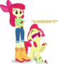 Applebloom and applebloom by hampshireukbrony-d6oadzf