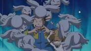 JP y Tommy son acatados por los Pagumon y son salvados por kouji - Latino