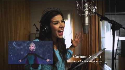 Carmen Sarahi doblando Frozen - Libre Soy