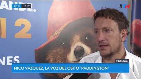 "Nico Vázquez le puso su voz al osito ""Paddington"""