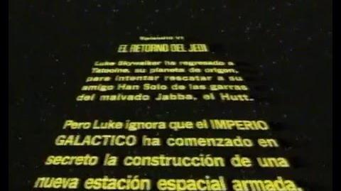 Prologo en castellano de El retorno del Jedi CBS FOX 1984