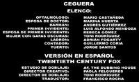 Doblaje Latino de Ceguera (Versión FOX)
