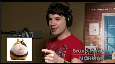 Bruno Pinasco en La vida secreta de tus Mascotas! Y Las Voces latinas