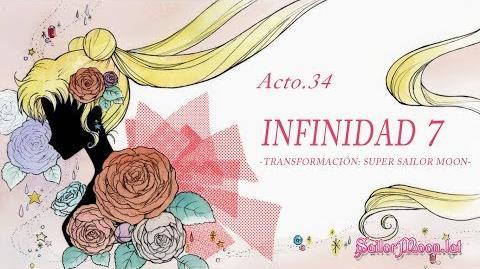 Sailor Moon Crystal ☾ Acto 34 Infinidad 7 -Transformación Super Sailor Moon- (Español Latino)