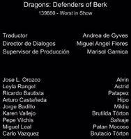 Doblaje Latino de Dragones Defensores de Berk (Capitulo 7)