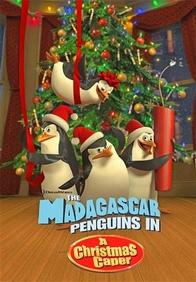 Los pingüinos de Madagascar en una misión navideña