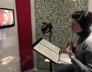 Vanina García grabando en Mandinga a Zumrut Kirman