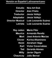 Doblaje Latino de Viva el Rey Julien (Capitulo 3)