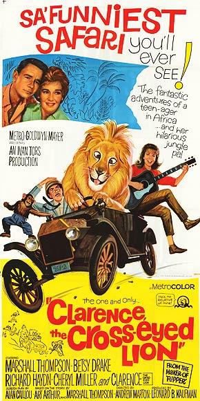Clarence, el león bizco