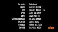 Creditos de doblaje Rise of the TMNT (Episodio 9, 1)