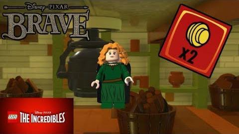 """¡¡DESBLOQUEAR A MERIDA (VALIENTE) Y LADRILLO ROJO """"MONEDAS X2"""" - LEGO LOS INCREIBLES"""