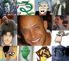 Rubén y algunos de sus personajes.jpg