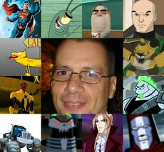 Luis y algunos de sus personajes.jpg