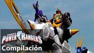 Power Rangers en Español Peleas de Zord Power Rangers Jungle Fury