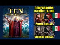 Los Diez Mandamientos -1956- Comparación del Doblaje Latino Original y Redoblaje - Español Latino