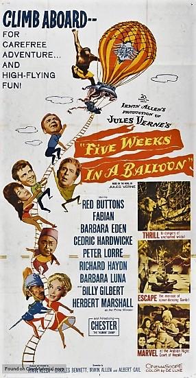 Cinco semanas en globo (1962)
