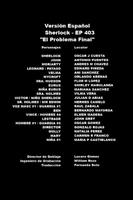 Doblaje Latino de Sherlock (4ª Temp. - Cap. 3)
