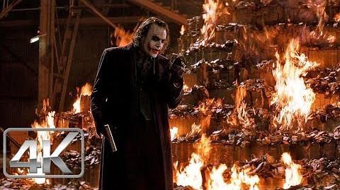 Joker Quema de Dinero Un Mundo Sin Batman LATINO (4k-HD) The Dark Knight (2008)